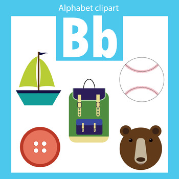 alphabet clip art letter b beginning sounds by thinkingcaterpillars rh teacherspayteachers com capital letter b clipart monogram letter b clipart