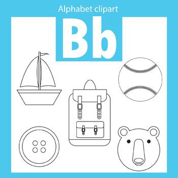 Alphabet clip art letter B Beginning sounds