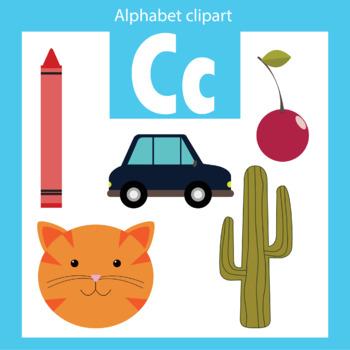 Alphabet clip art letter C Beginning sounds