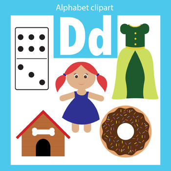 Alphabet clip art letter D Beginning sounds