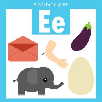 Alphabet clip art letter E Beginning sounds