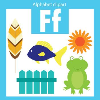 Alphabet clip art letter F Beginning sounds