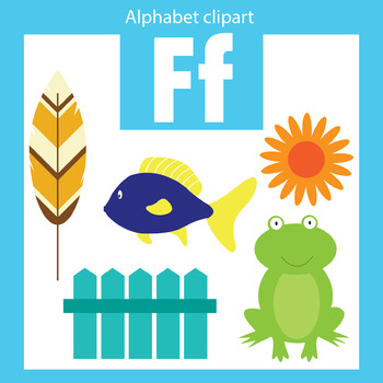 Alphabet clip art letter F Beginning sounds