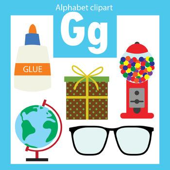 Alphabet clip art letter G Beginning sounds