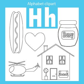 Alphabet clip art letter H Beginning sounds
