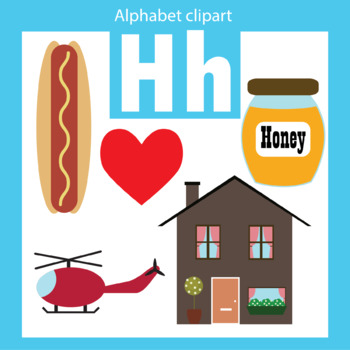 Alphabet clip art letter H Beginning sounds