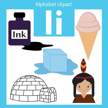 alphabet clip art letter i beginning sounds by thinkingcaterpillars rh teacherspayteachers com letter a clipart small letter i clipart