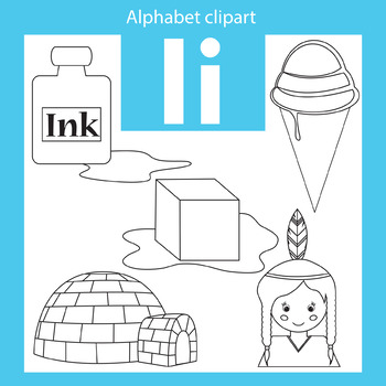 Alphabet clip art letter I Beginning sounds