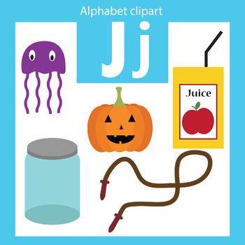 Alphabet clip art letter J Beginning sounds
