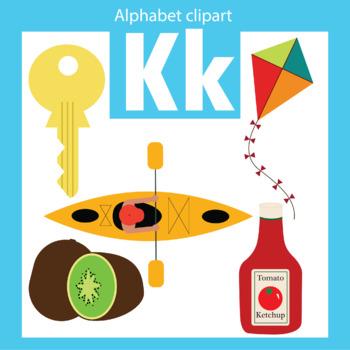 Alphabet clip art letter K Beginning sounds