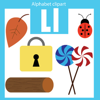 alphabet clip art letter l beginning sounds by thinkingcaterpillars rh teacherspayteachers com alphabet clipart letters free alphabet clipart colors