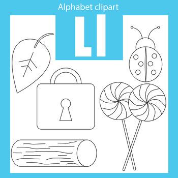Alphabet clip art letter L Beginning sounds