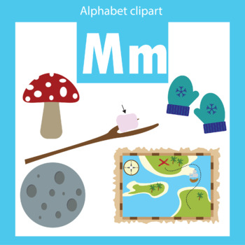 Alphabet clip art letter M Beginning sounds