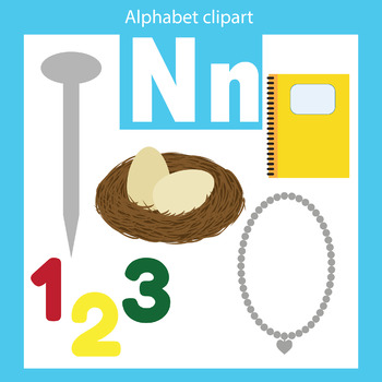 Alphabet clip art letter N Beginning sounds