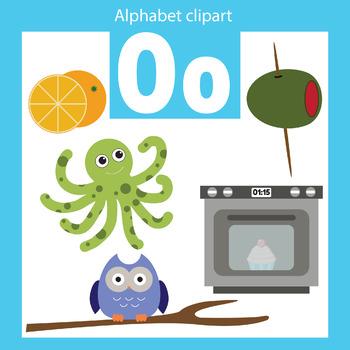Alphabet clip art letter O Beginning sounds
