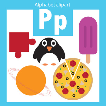 Alphabet clip art letter P Beginning sounds