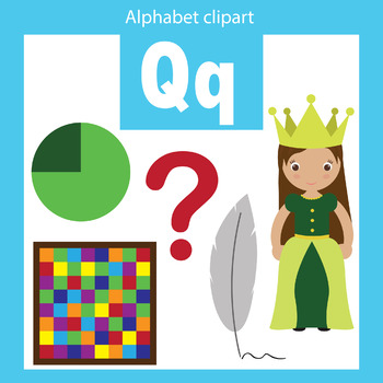 Alphabet clip art letter Q Beginning sounds