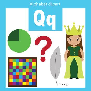 Alphabet clip art letter Q Beginning sounds