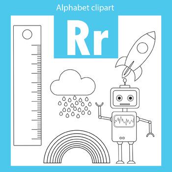 Alphabet clip art letter R Beginning sounds