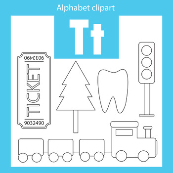 Alphabet clip art letter T Beginning sounds