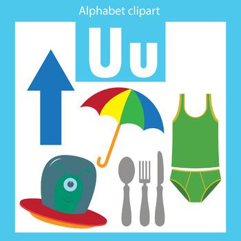 Alphabet clip art letter U Beginning sounds