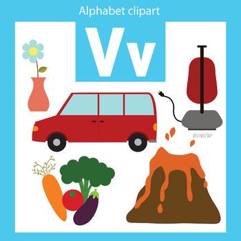 Alphabet clip art letter V Beginning sounds