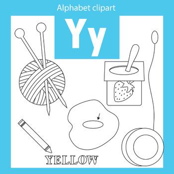 Alphabet clip art letter Y Beginning sounds