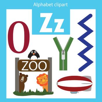 Alphabet clip art letter Z Beginning sounds