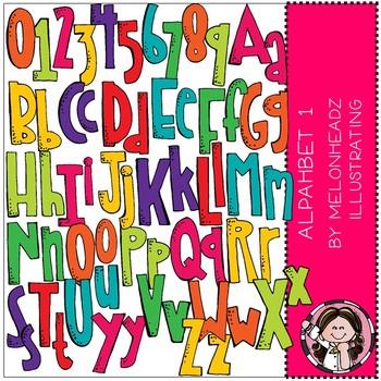 Alphabet clip art - set 1 - by Melonheadz