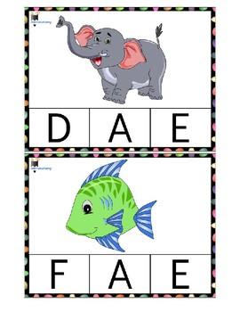 Alphabet clip cards (Upper Case)