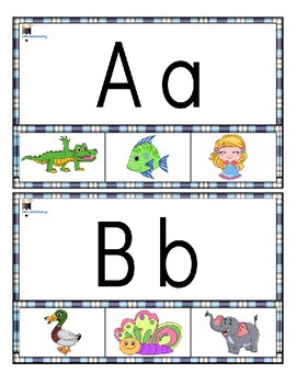 Alphabet clip cards (picture and letter match up)