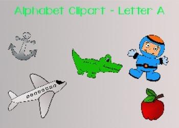 Alphabet clipart - Letter A
