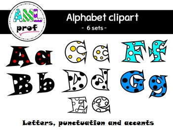 Alphabet clipart: dots