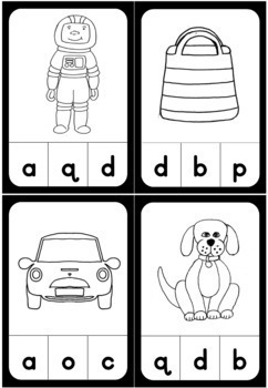 Alphabet - beginning sound - clipcards