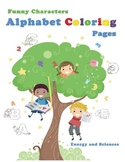 Alphabet coloring book: reinforce letter recognition throu