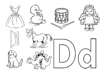 Alphabet coloring exercise workbook A-Z