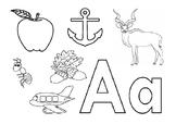 Alphabet coloring exercise workbook A-Z