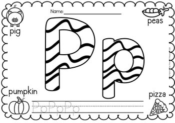 Alphabet coloring pages (posters)