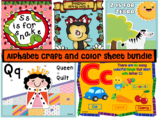 Alphabet craft and color sheet bundle
