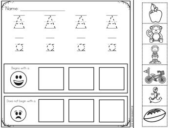 Alphabet Worksheets (Cut and Paste)