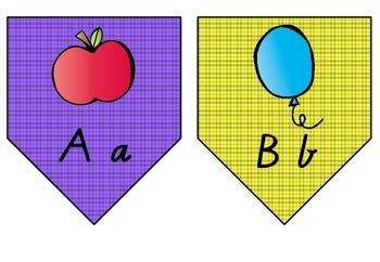 Alphabet display bunting