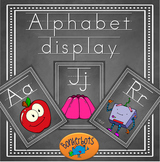 Alphabet display cards (chalkboard)