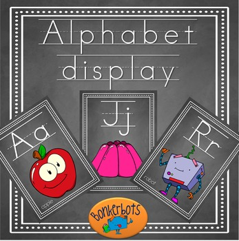 Alphabet display cards (chalkboard)