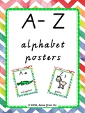 Alphabet display poster set