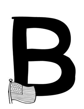 Alphabet display posters