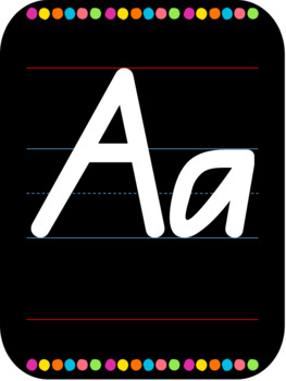 Alphabet display posters A-Z Qld Beginners Font
