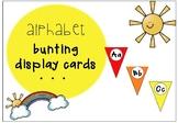 Alphabet display rainbow bunting