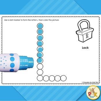 Alphabet dot marker sheets