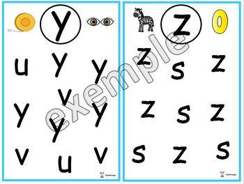 Alphabet: encercle la lettre vedette