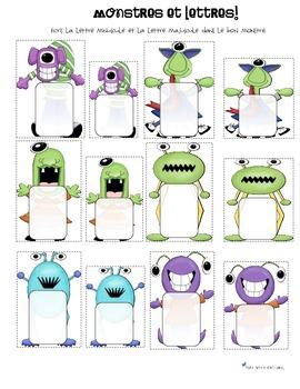 Alphabet cards monster (alphabet et écriture)